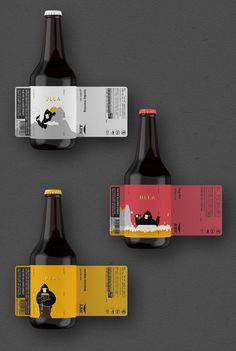 ULLA X ARK Beer on Packaging of the World - Creative Package Design GalleryYou can find Beer packaging and more on ou. Food Packaging Design, Beverage Packaging, Bottle Packaging, Coffee Packaging, Product Packaging, Brand Packaging, Craft Beer Labels, Wine Labels, Craft Beer Brands