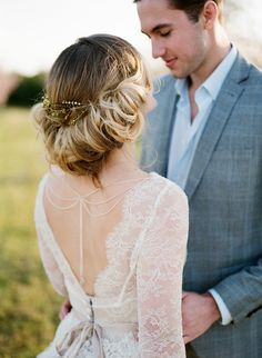 Romantic Springtime Bridal Updo // Photography ~ Archetype
