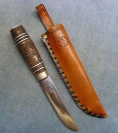 Speider kniv Norwegian Scout Knife Stacked Leather Handle Erling Brusletto #ErlingBrusletto