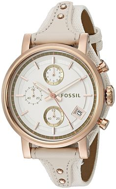 Fossil Women's ES3947 Original Boyfriend Chronograph Light Brown Leather Watch >>> You can find out more details at the link of the image.