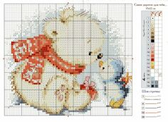 Cross-stitch Cute Baby Polar Bear & Blue Bird...   Gallery.ru / Фото #2 - 176 - gipcio