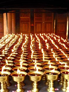 Candles in Buddhist temple