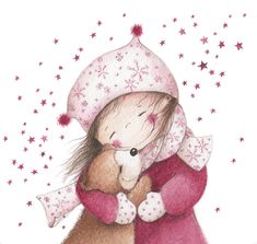 Illustration Christmas card illustrator An Melis