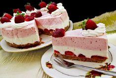 Sütés nélküli krémes epertorta, káprázatos finomság!