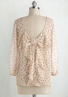 Flash Fete Top in Dots | Mod Retro Vintage Short Sleeve Shirts | ModCloth.com
