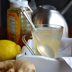 Ginger Lemon Tea   taste love and nourish - This is the one thing that brings me relief when my allergies are acting up!  I'm having a cup right now!