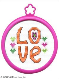 Bucilla ® My 1st Stitch™ - Counted Cross Stitch Kits - Mini - Love. Ideal for beginners. Included are easy to learn instructions with how-to steps showing you how its done. #crafts #knitting #plaid crafts