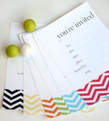 The 15 Best Free Printable Birthday Invitations: Colorful Arrangement by TomKat Studio