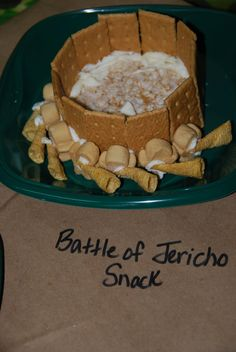 Life's a Bowl of Cherries: Joshua and the Battle of Jericho VBS Snack Craft. Who would pass on this game? It's sweet and the story of Joshua and Jericho of the Bible will always be a wonderful memory of God's powerful promise. Bible Story Crafts, Bible School Crafts, Bible Crafts For Kids, Preschool Bible, Bible Lessons For Kids, Vbs Crafts, Bible Activities, Church Crafts, Food Crafts