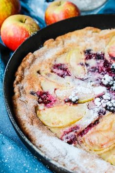 Blackberry and Apple Paleo Dutch Baby