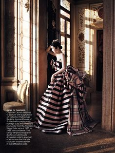 Christian Lacroix: Cinderella Story- Edie Campbell photographed by David Sims forVogue US(September 2013).