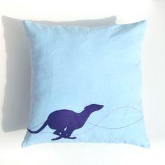 Blue Whippet Cushion
