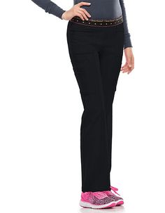 Always be stylish at work when you wear this pair of cargo scrub pants from HeartSoul. Its fabric is soft yet durable, and it is loaded with features that are fashionable as well as functional. Elastic Waist Pants, Scrub Pants, Welt Pocket, Scrubs, Bff, Overalls, Stylish, Fitness, How To Wear