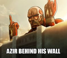 Azir behind his wall