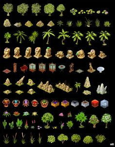 Awesome rpg game resources tilesets , sprites and buildings Game Design, Prop Design, Sprites, 2d Rpg, Isometric Drawing, 2d Game Art, 8bit Art, Pixel Design, Hand Painted Textures