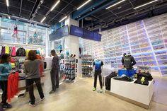 f1fa493afe Retail Spec: Asics Times Square Flagship - Architizer Asics, Times Square,  Basketball Court
