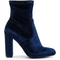 Steve Madden Edit Bootie found on Polyvore featuring shoes, boots, ankle booties, обувь, ankle boots, booties, faux-fur boots, velvet boots, high heel boots and high heel booties