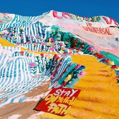 Salvation Mountain, Palm Springs CA Places To Travel, Places To See, Travel Destinations, Salvation Mountain, Slab City, Rivers And Roads, All The Bright Places, Wanderlust, Palm Springs