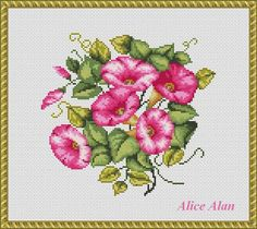 Bouquet of morning glories floral arrangement от HallStitch