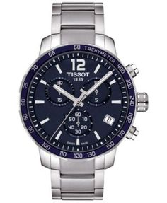 Tissot Men's Swiss Chronograph Quickster Stainless Steel Bracelet Watch 42mm T0954171104700