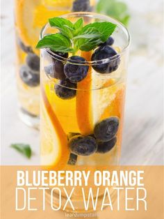 blueberry orange vitamin bomb: a detox water that boosts metabolism