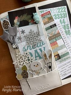 Ivory Carpe Diem planner with our Winter Wonderland collection from marketing director Layle Koncar