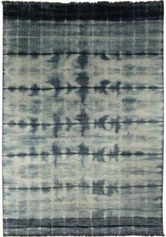 Blue Stripe Dye Rug N10743 - by Doris Leslie Blau