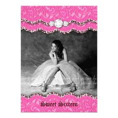 Sweet 16 or Quinceanera Invitation printable double sided