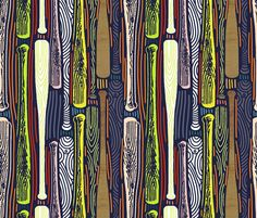 Base Hit fabric by susan_polston on Spoonflower - custom fabric