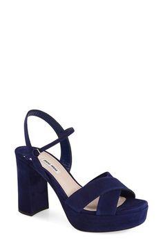 Miu Miu Platform Sandal (Women) available at #Nordstrom
