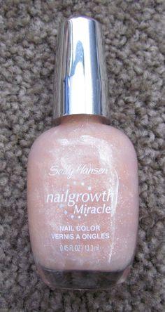 NEW! ❤ SALLY HANSEN NAIL GROWTH MIRACLE #155 MISTY ROSE NAIL POLISH .45 OZ ❤ #SallyHansen