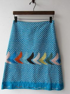 easy to make a plain skirt more interesting