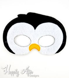 Penguin Mask Embroidery Design, penguin mask, machine embroidery, ITH mask, in the hoop, embroidered mask, 5x7, 6x10, penguin costume, bird - pinned by pin4etsy.com