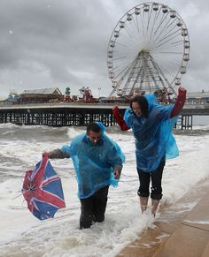 blackpool in the rain