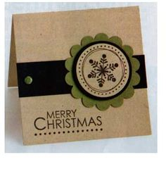 Merry Christmas Mini Card - Stampin' Up!