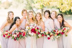 Rustic Fall Wedding | Photography: The Tarnos | Florist: Petals Couture | Bridesmaids Attire: Bella Bridesmaids #bridesofnorthtx #wedding #bridesmaids