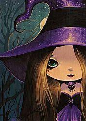 Sweet Little Spell Caster - by Nico Niemi from Fantasy Sci Fi Art Gallery Kunst Portfolio, Artist Portfolio, Whimsical Halloween, Cute Halloween, Fantasy Kunst, Fantasy Art, Autumn Witch, Witch Pictures, Spell Caster