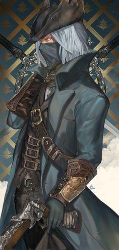 The Hunter (Bloodborne) Image - Zerochan Anime Image Board Bloodborne Game, Bloodborne Characters, Bloodborne Concept Art, Character Concept, Character Art, Character Design, Character Inspiration, Sif Dark Souls, Male Steampunk
