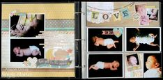 Love You to the Moon - Scrapbook.com - Made with the Hello Baby Collection.