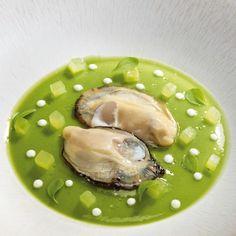 huîtres (Anne-Sophie Pic) L'art de dresser et présenter une assiette comme un chef de la gastronomie..