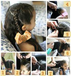 #ad El peinado sólo toma unos 10-15 minutos (dependiendo de tu experiencia) pero se ve muy elegante en una niñita. Para hacerlo me gusta preparar el cabello de mis hijas correctamente ya que esto ayuda mucho a que el peinado salga mejor y ellas estén felices y sin enredos.