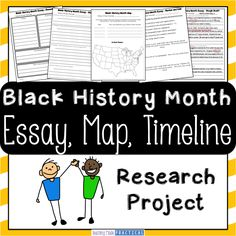 timeline  create a timeline and student on pinterestblack history month research project   students research a famous african american and create an essay
