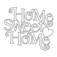 Home Sweet Home String Art Template String Art Templates, String Art Patterns, Machine Embroidery Projects, Hand Embroidery Patterns, Templates Printable Free, Printable Art, Free Printables, Sweet Pictures, Beautiful Pictures