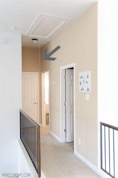 Lovely Hallway attic Fan