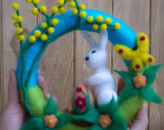 Easter Egg Needle Felted Easter Ornaments Easter by LifeandWool