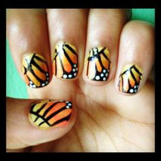 Monarch Butterfly Nails