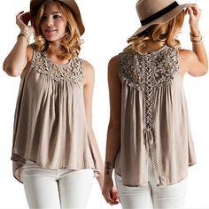 7fb722c37 Buy Blusas Femininas 2016 Summer Style Women Casual Chiffon Blouses Solid  Sleeveless Shirts Women Tops Cheap Clothes Plus Size at Wish - Shopping  Made Fun