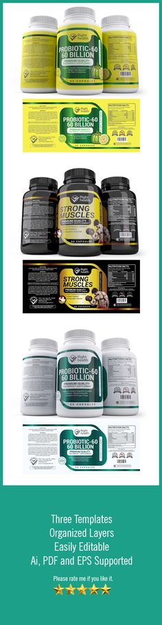 Pure Triphala Supplement Label Template Http://Www.Dlayouts.Com