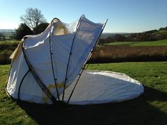 Mollusc - The tent you open and close. In good weather open the canopy like the hood of a giganormous pram.
