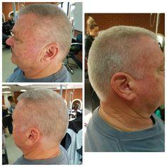 Clipper and shear men's cut